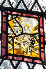 Panel of medieval stained glass