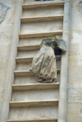 Bishop King's angel climbing a laddrer