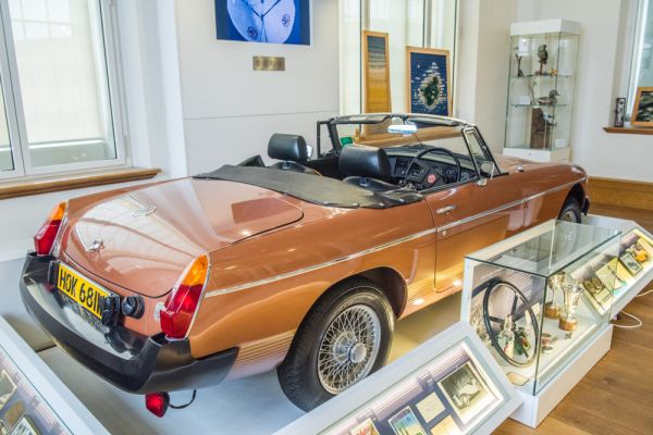 Abingdon County Hall photo, One of the last MGB roadsters ever made