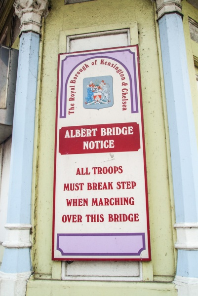 'All troops must break step' warning