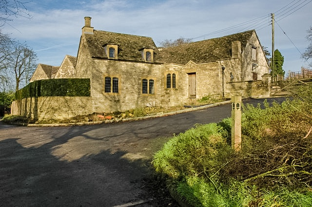 Cotswold cottages in Alderley, Gloucestershire