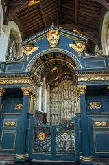 The ornate 1716 chapel screen by Sir James Thornhill