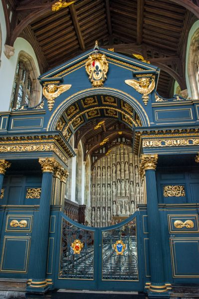 All Souls College photo, The ornate 1716 chapel screen by Sir James Thornhill