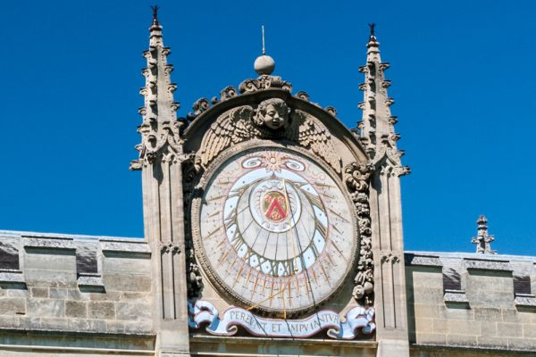 All Souls College photo, The astronomical clock over the gateway