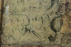 Ancient High House, Original 17th century wall paper on the stairwell