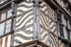 Ancient High House, Detail of the exterior timber-framing