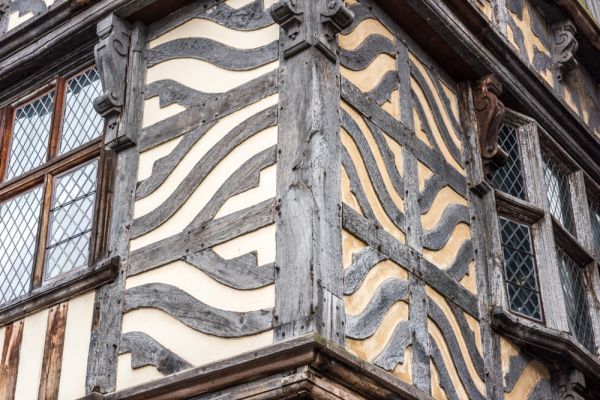 Ancient High House photo, Detail of the exterior timber-framing