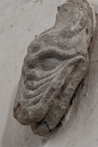 Late Saxon head of a dragon, north aisle