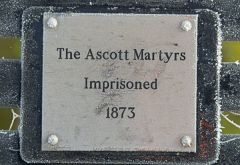 The Martyr's memorial plaque