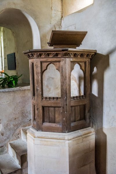 Ashley, St Mary's Church photo, The Jacobean pulpit
