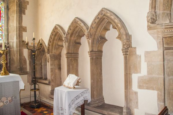 Ashwell, St Mary's Church photo, A triple sedilia in the chancel