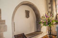 Ashwell, St Mary's Church, A medieval tomb niche near the altar