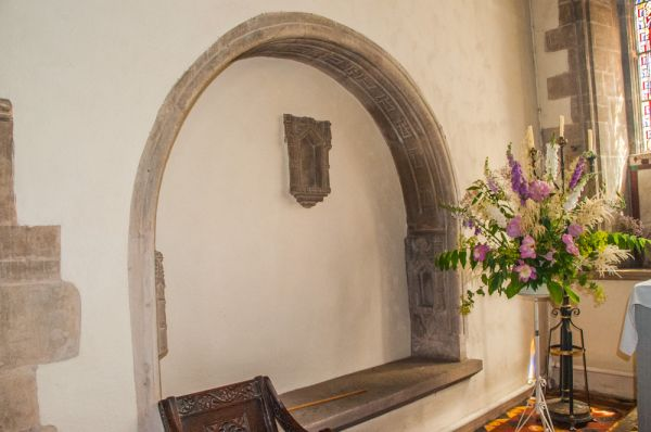 Ashwell, St Mary's Church photo, A medieval tomb niche near the altar