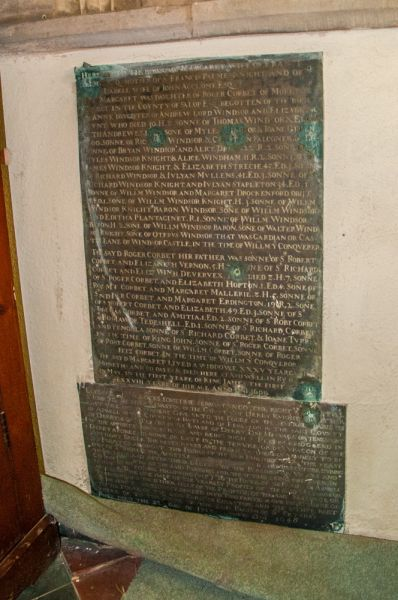 Ashwell, St Mary's Church photo, Memorial brass to Margaret Palme, c. 1603