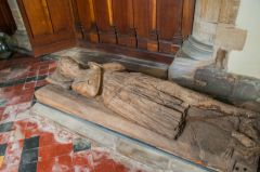 Ashwell, St Mary's Church, 13th century wooden effigy of a knight