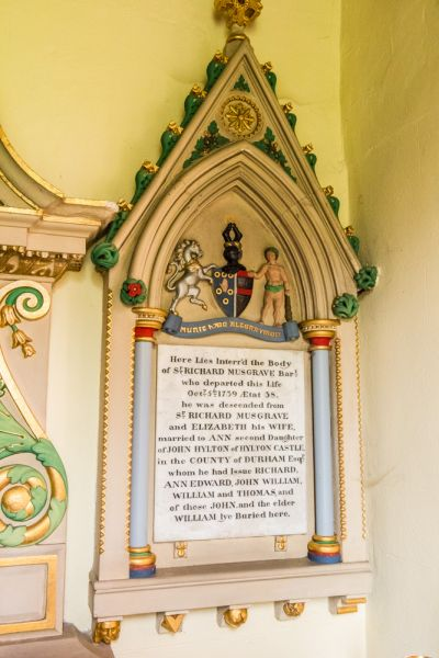 Aspatria, St Kentigern's Church photo, Ornate Musgrave family monuments