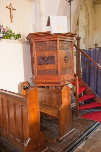 Jacobean carved pulpit