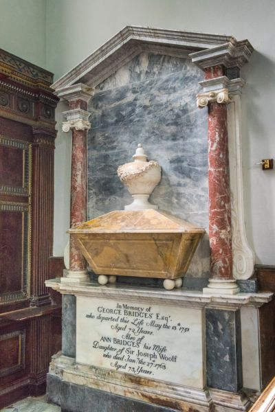 Avington, St Mary's Church photo, Memorial to George and Ann Brydges (d. 1751 and 1763 respectively)