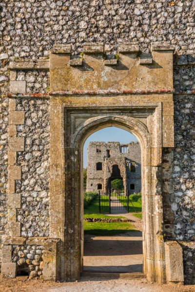 Baconsthorpe Castle photo, Looking through the outer gatehouse entrance