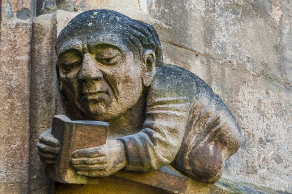 Balliol College photo, A curious carving on the Chapel exterior