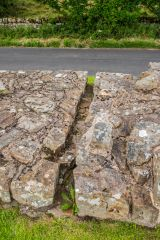 A drainage channel cut through Hadrian's Wall
