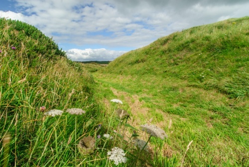 The earthworks of Barsalloch Fort
