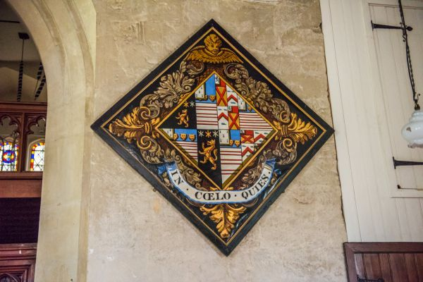 Barton Stacey, All Saints Church photo, Wright-Wilson funeral hatchment