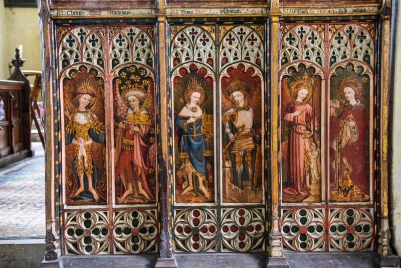 The superb 15th century screen