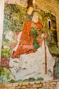 St Christopher wall painting, Baunton church