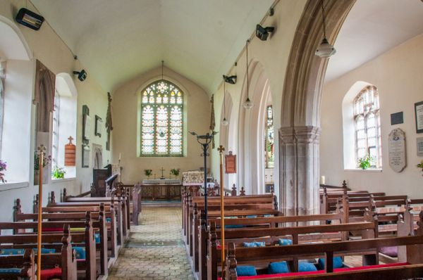 Beachamwell, St Mary's Church photo, Looking down the nave