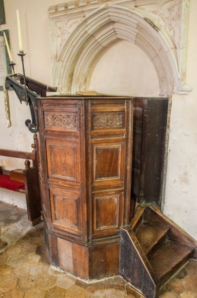 Beachamwell, St Mary's Church photo, The Jacobean pulpit