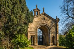 Beckford's Tower, The ornate entrance to the burial ground and Tower