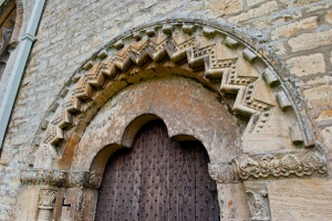 Norman north door, Bibury