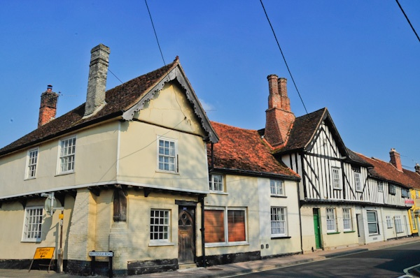 Picturesque cottages in Bildeston, Suffolk