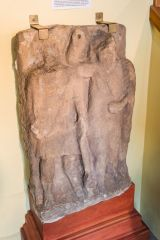 A carving of Hercules and Jupiter discovered at Birdoswald