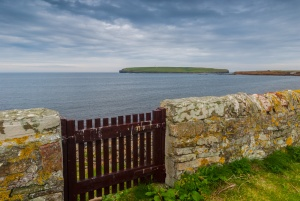 The churchyard gate, looking towards the Brough of Birsay