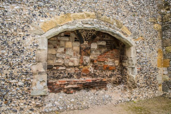 Bishops Waltham Palace photo, A fireplace in the Brewhouse