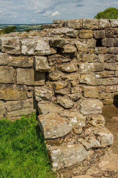 Black Carts Turret (Hadrian's Wall) photo, The western wall remains
