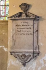 Blandford Forum, St Peter & St Paul Church, Robert Clerk memorial, 1757