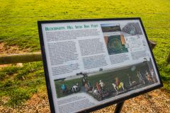 Bloodgate Hill Hillfort, The Norfolk Archaeological Trust information panel