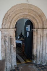 Blyford, All Saints Church, The Norman north doorway