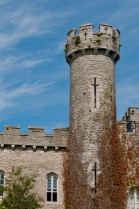 The castellated exterior of Bodelwyddan