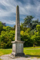 Bodelwyddan Castle, Obelisk memorial to the Williams family, 1857