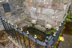 St Petroc's holy well outside the church