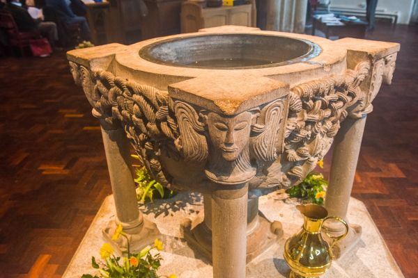 Bodmin, St Petroc's Church photo, Another look at the richly carved font
