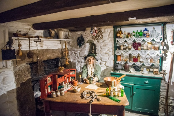 The wise woman's cottage exhibit