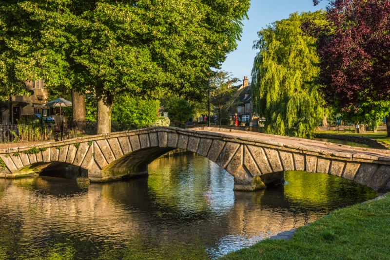 Footbridge across the River Windrush in Bourton-on-the-Water