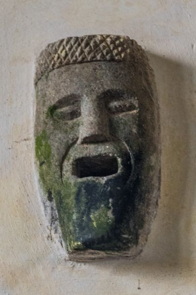 Bradstone, St Nonna's Church photo, Carved head in the chancel