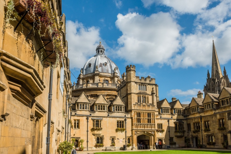 Inside the front quad at Brasenose College