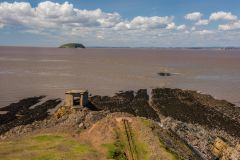 Brean Down Fort, The searchlight post on the shore